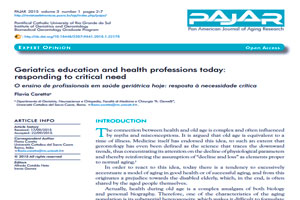 Geriatrics education